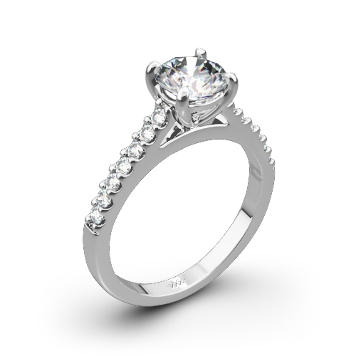 Petite Open Cathedral Diamond Engagement Ring