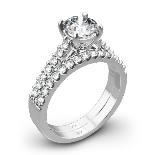 Petite Open Cathedral Diamond Wedding Set