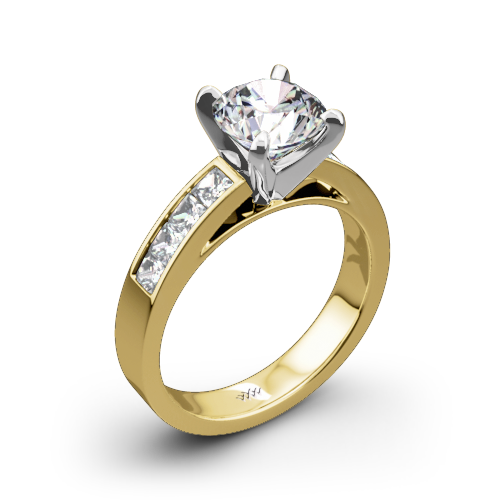 channelset diamond engagement ring 1082