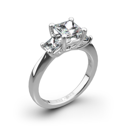 Ritani 1PCZ1237P Three Stone Engagement Ring for Princess