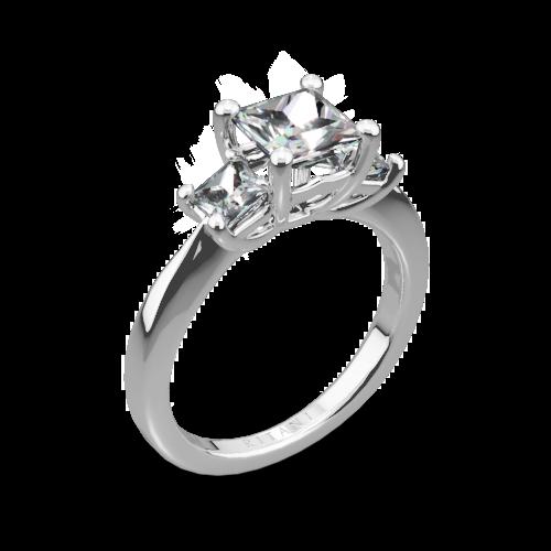 Ritani 1PCZ1237P Three Stone Engagement Ring for Princess