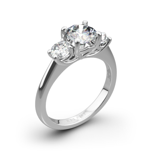 Ritani 1RZ1015P Three Stone Engagement Ring