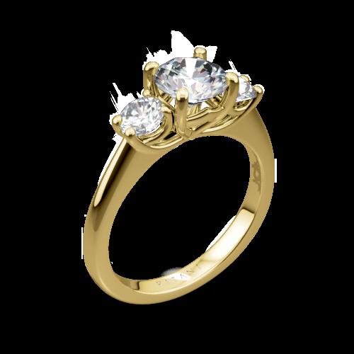 Ritani 1RZ1015P Three Stone Engagement Ring
