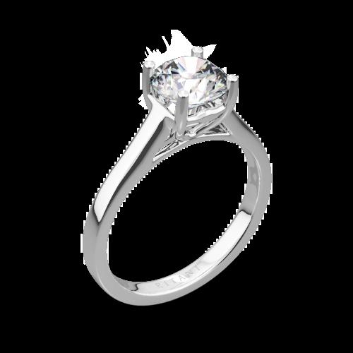 Ritani 1RZ1178 Diamond Tulip Cathedral Solitaire Engagement Ring