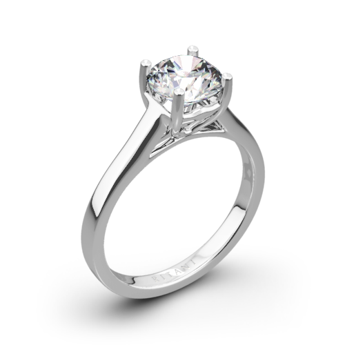 Ritani 1RZ1178 Diamond Tulip Cathedral Solitaire Engagement Ring