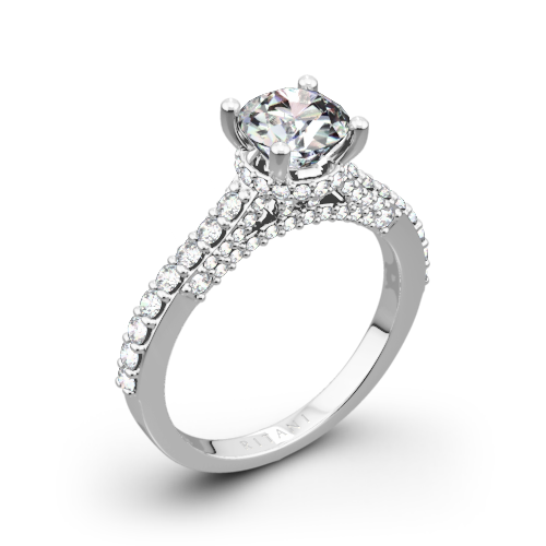 Ritani 1RZ1320 French-Set Diamond Engagement Ring
