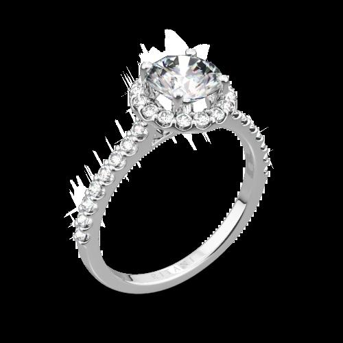 Ritani 1RZ1323 French-Set Halo Diamond Engagement Ring