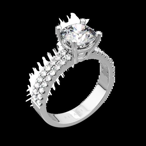 Ritani 1RZ1324 Double French-Set Diamond Engagement Ring