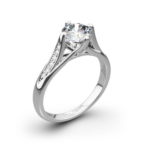 Ritani 1RZ1379 Vintage Tulip Diamond Engagement Ring