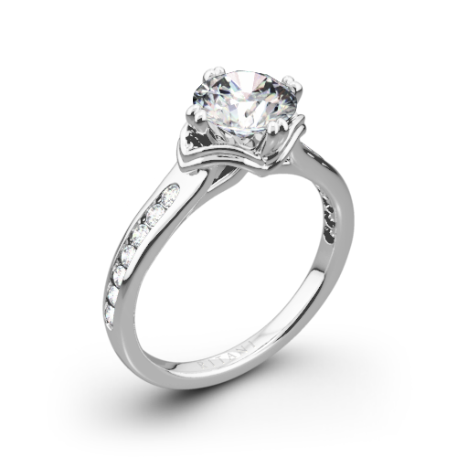 Ritani 1RZ1385 Modern Channel-Set Diamond Engagement Ring