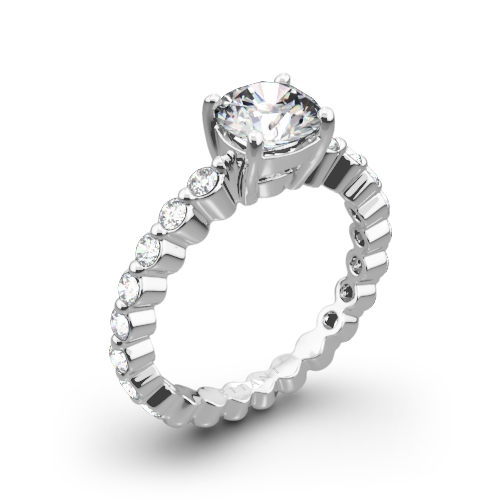 of fvlilty rows stone ring round and engagement two wedding center cut prong classic promise a rings set featuring diamond chic