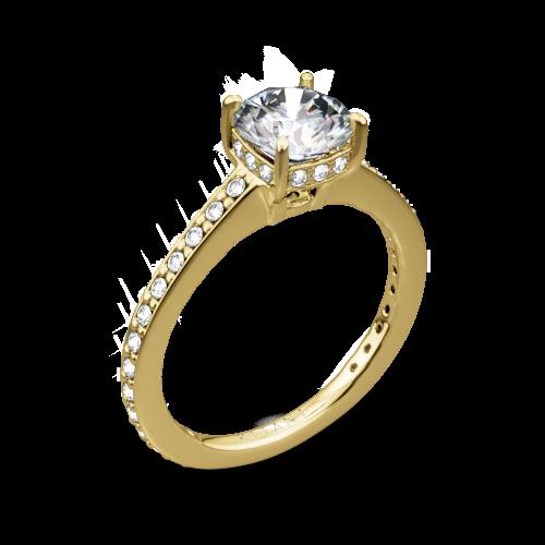 Ritani 1RZ1966 Micropavé Diamond Engagement Ring