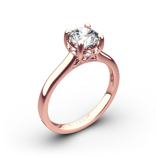 Ritani 1RZ2465 Surprise Diamond Solitaire Engagement Ring
