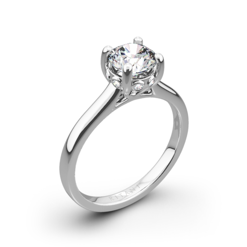 Ritani 1RZ2465 Surprise Diamond Solitaire Engagement Ring