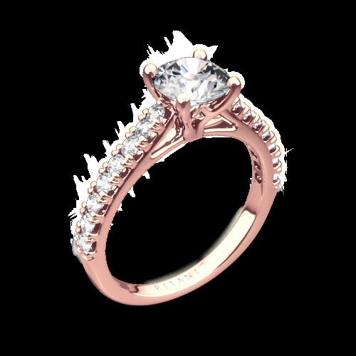 Ritani 1RZ2489 French-Set Diamond Engagement Ring