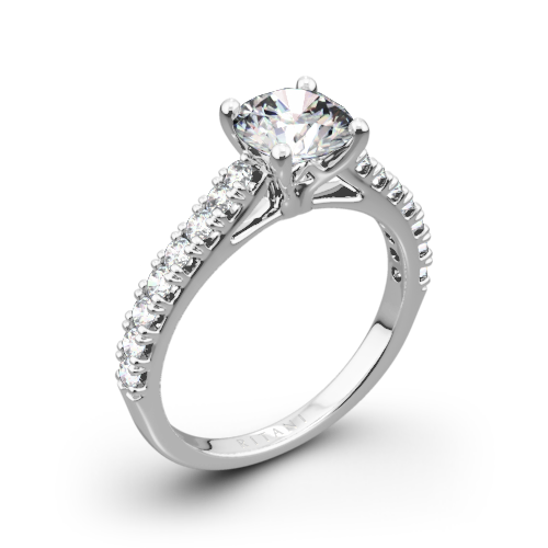 Ritani 1RZ2489 French-Set Diamond Engagement Ring