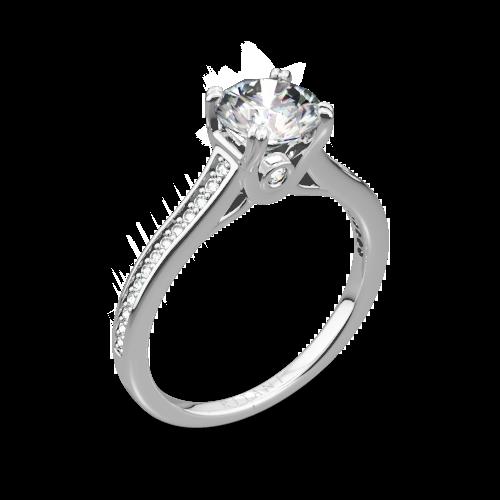 Ritani 1RZ2493 Micropavé Diamond Engagement Ring