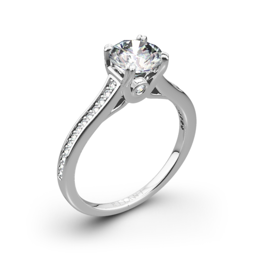 Ritani 1RZ2493 Micropavé Diamond Engagement Ring