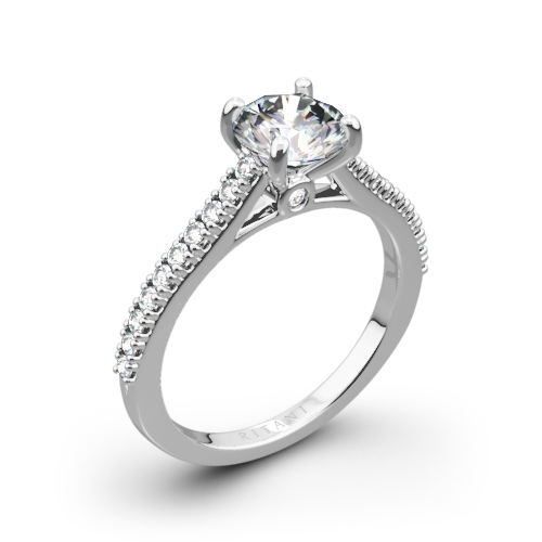 Ritani 1RZ2498 French-Set Diamond Engagement Ring