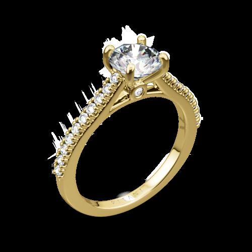 Ritani 1RZ2498 French-Set Diamond Engagement Ring