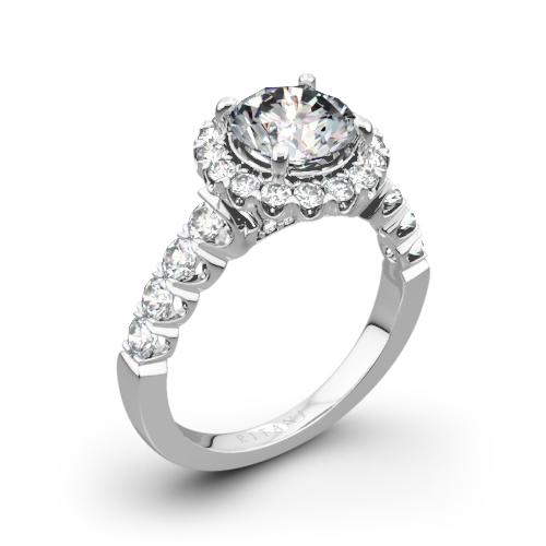 Ritani 1RZ2720 Masterwork Halo Diamond Engagement Ring