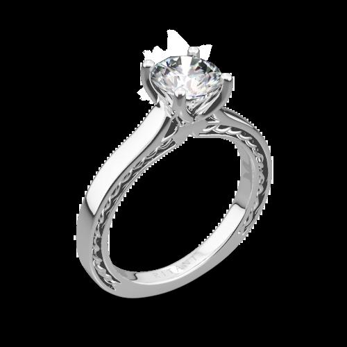 Ritani 1RZ2828 Braided Solitaire Engagement Ring