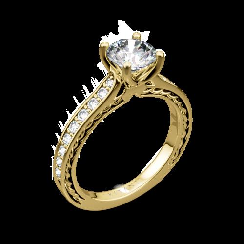 Ritani 1RZ2830 Micropavé Braided Diamond Engagement Ring