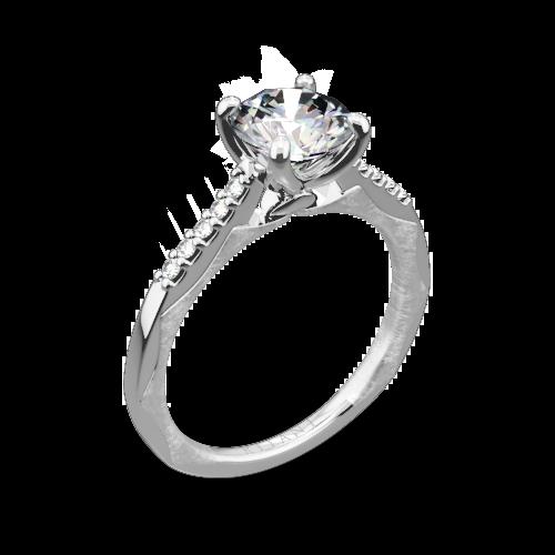 Ritani 1RZ2841 Modern French-Set Diamond Engagement Ring
