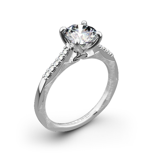 Ritani 1RZ2841 Modern French-Set Diamond Engagement Ring
