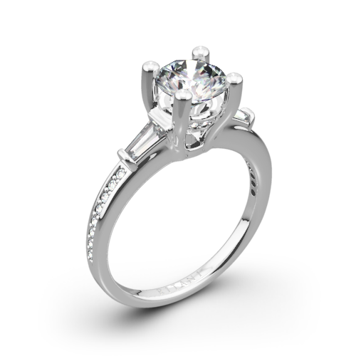 Ritani 1RZ3051 Tapered Baguette Three Stone Engagement Ring