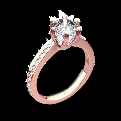 Ritani 1RZ3268 6 Prong Micropavé Diamond Engagement Ring