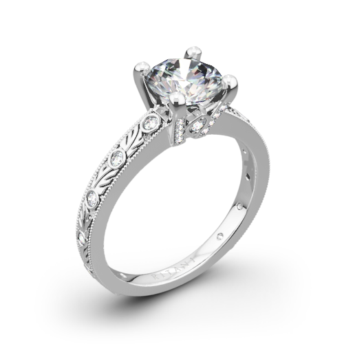 Ritani 1RZ3614 Grecian Leaf Diamond Engagement Ring