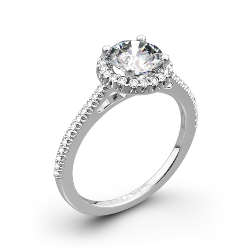 Ritani 1RZ3702 French-Set Halo Diamond Engagement Ring