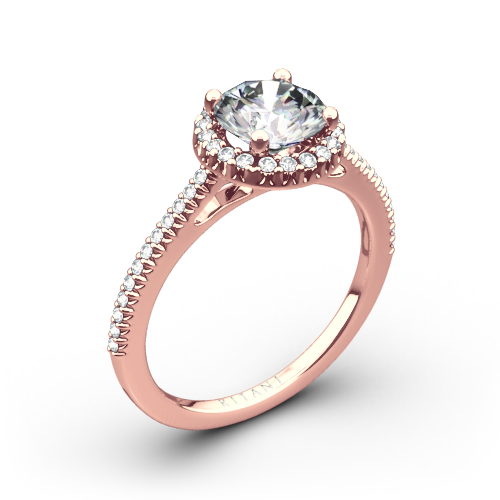 Ritani 1RZ3702 French-Set Halo Diamond Engagement Ring