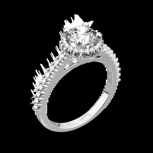 Ritani 1RZ3705 French-Set Halo Diamond Engagement Ring