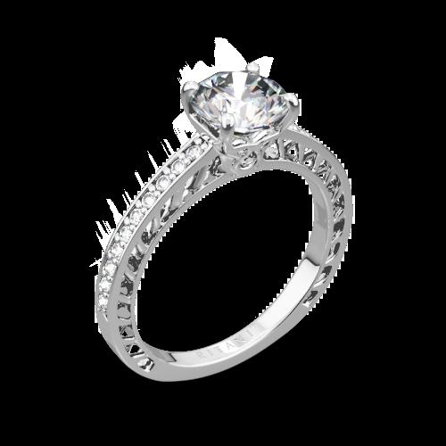 Ritani 1RZ4170 Lattice Micropavé Diamond Engagement Ring