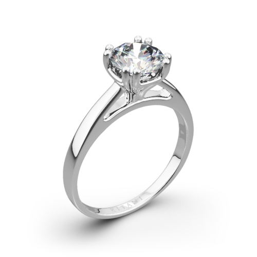 Ritani 1RZ7232 Cathedral Tulip Solitaire Engagement Ring