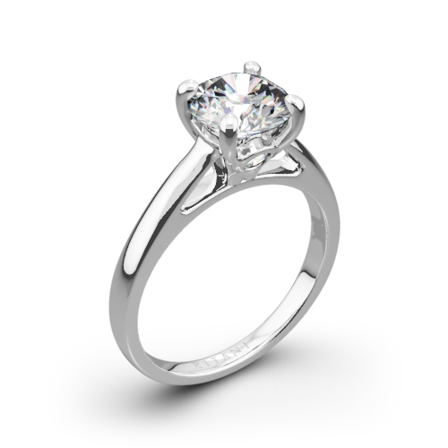 Ritani 1RZ7234 Cathedral Surprise Diamonds Solitaire Engagement Ring