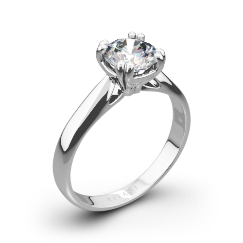 Ritani 1RZ7242 Tulip Cathedral Solitaire Engagement Ring