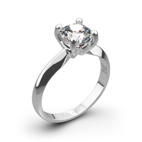 Ritani 1RZ7261 Knife-Edge Solitaire Engagement Ring