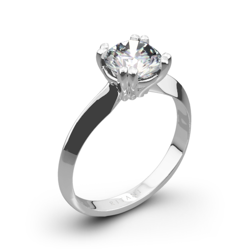 Ritani 1RZ7262 Knife-Edge Tulip Solitaire Engagement Ring