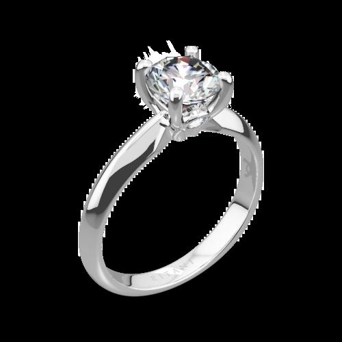 Ritani 1RZ7264 Knife-Edge Surprise Diamonds Solitaire Engagement Ring