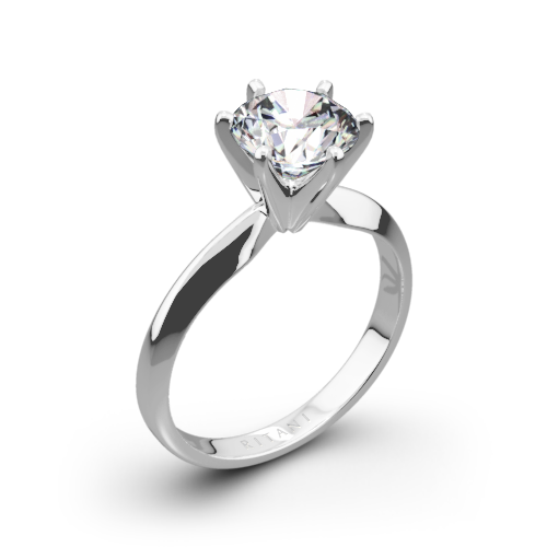 Ritani 1RZ7265 Six-Prong Knife-Edge Solitaire Engagement Ring