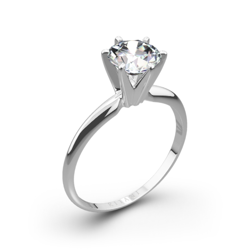 Ritani 1rz7295 Six G Knife Edge Solitaire Engagement Ring