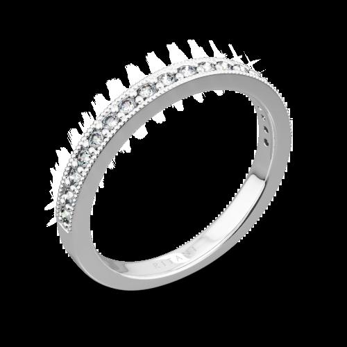 Ritani 21697 Milgrain Diamond Wedding Ring