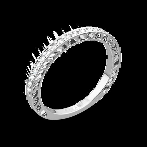 Ritani 24170 Lattice Micropavé Diamond Wedding Ring