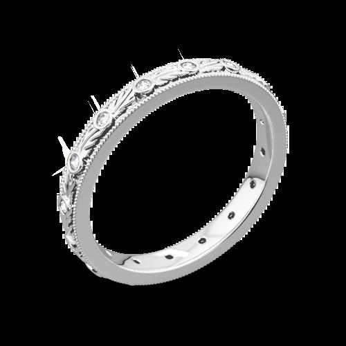 Ritani 33616 Hand-Carved Grecian Diamond Wedding Ring
