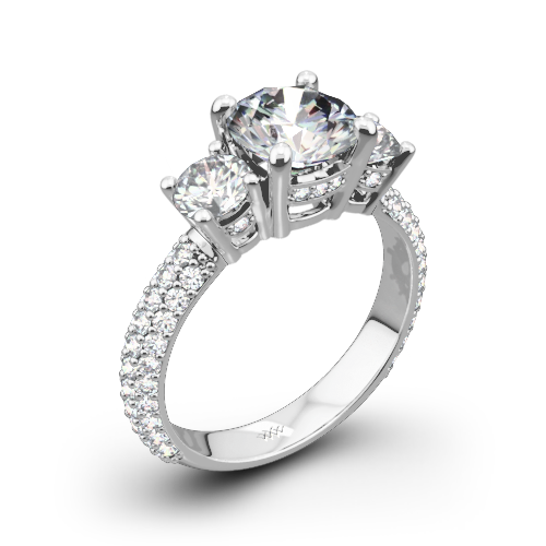 trilogy stone engagement wedding diamond dublin certified multi rings bespoke three ring diamonds