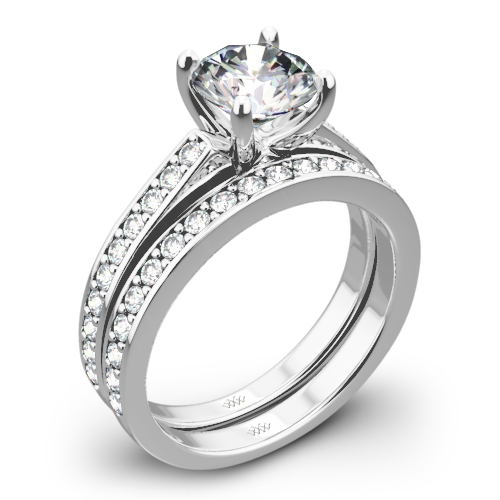 Scarlet Diamond Wedding Set