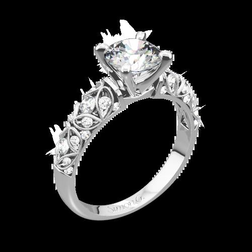 Simon G. LP1582-D Delicate Diamond Engagement Ring